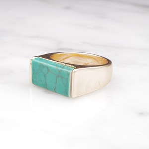 SQUARE TURQUOISE RING