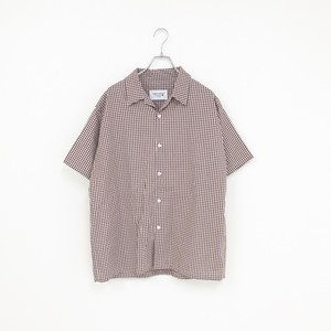 GINGHAM SHIRT(BROWN)