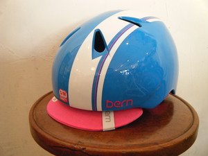 bern nina (ガールズ用) Gloss Cyan Racing Stripe