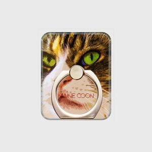 メインクーン おしゃれな猫スマホリング【IMPACT -color- 】