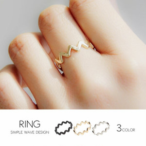 【ring】3color Simple wave design ring ring [kgd1229]