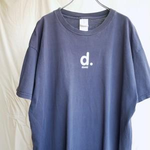 【USED】90's フルーツ・オブ・ザ・ルーム プリント Tシャツ 半袖 ネイビー
