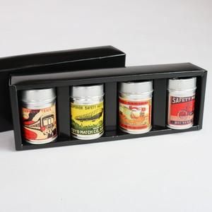 レトロ缶マッチ4コセット
