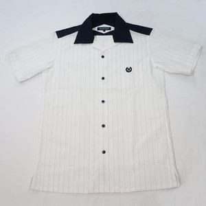 SEERSUCKER STRIPE ONE-UP COLLER  SS WHITE