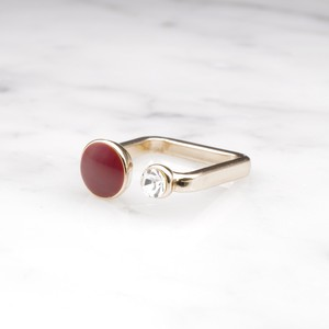 【RESTOCK】CRYSTAL AND ENAMEL COMBI RING RED