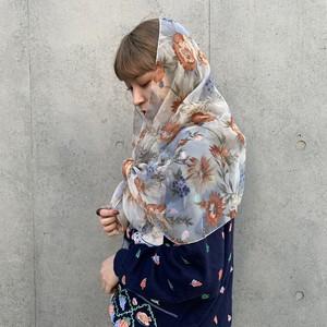 (LOOK) flower scarf