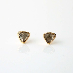 Sliced Diamond Pierced Earring / Pair(E268-YD)