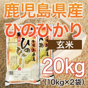 令和元年産 鹿児島県産ヒノヒカリ 【玄米】 20kg(10kg×2袋) ★送料無料!!(一部地域を除く)★