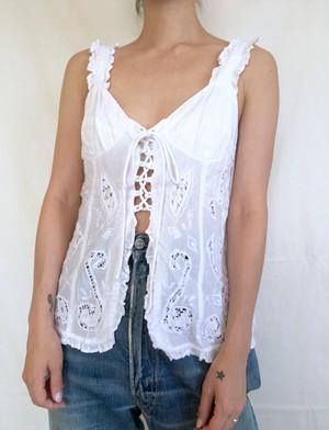 vintage n/s cotton frill blouse
