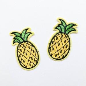 黄色縁パイナップルワッペン