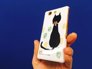 スマホカバー すぎもとでんき25周年アニバーサリー 黒猫好き