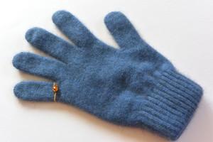 ピンキーリングの手袋 ブルー《11月後半以降お届け予定》