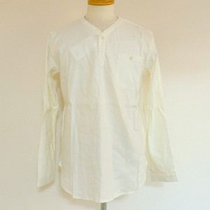 Stretch Linen Pullover Shirts White