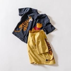キッズ予約 2600円+税 プーさん&ティガーバックプリントTシャツ