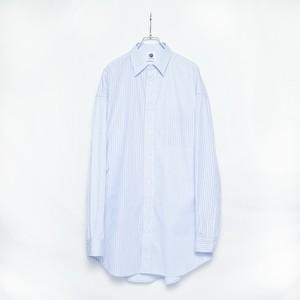 【GEN IZAWA】カッターシャツ/オーバーストライプシャツ(LAIGHT BLUE)