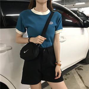 【お取り寄せ商品】ラウンドネックデザインTシャツ 7241