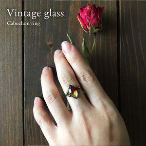 Cabochon ring [Red&yellow] 3〜20号