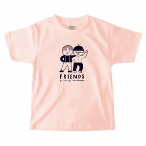 Tシャツ「Friends」/ 子どもサイズ / ライトピンク