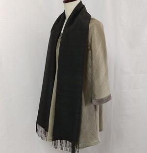 草木染手織りシルクショール