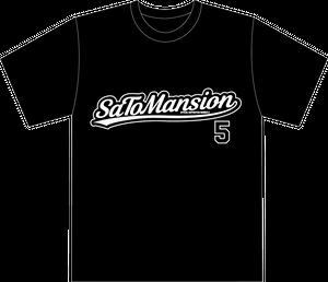 バックプリント5番Tシャツ 黒