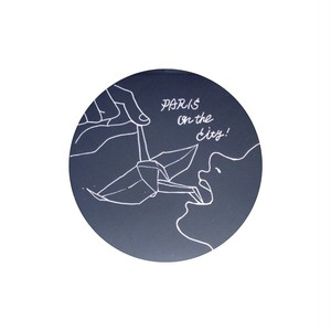 PARIS on the City!缶バッチ(鶴デザインブラック)