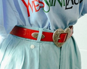 red heart concho leather belt