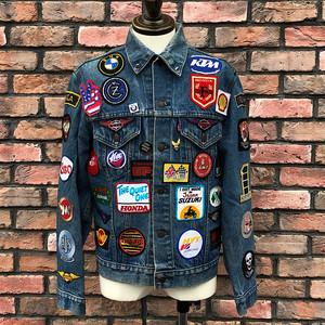 Vintage Levi's Motorcycle Costom Denim Jacket 70505 40