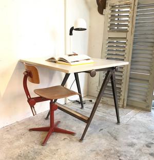 "Drafting Table ""Wim Rietveld & Friso Kramer"" Ahrend de Cirkel 1960's  chocolate BRN"