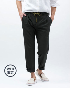 NOT TOO SEERSUCKER FOR TOKYO PANT/BRIGHT MOSS