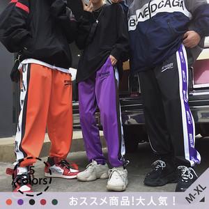 【ボトムス】「*ユニセック」超人気ストリート系キャンパスファッションローウエストカジュアルパンツ22205678