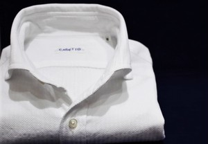CADETTO ORIGINALS SHIRTS Dobby Stripe White