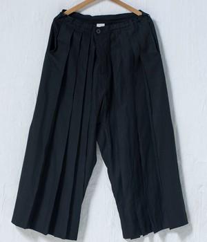 JAN JAN VAN ESSCHE - TROUSERS#62 - BLACK LINEN/PAPER CLOTH
