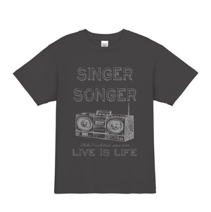 9th anniversary Tシャツ(LIVE IS LIFE charcoal gray)