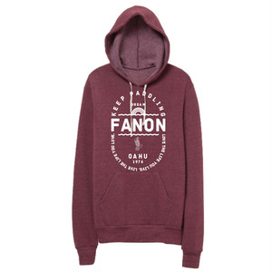 [MAN] KEEP PADDLING FLEECE HOODIE -CURRANT-