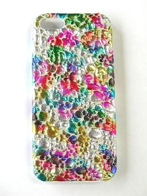 iPhoneケース for iPhone5/5s [Water Drop] Multi × White