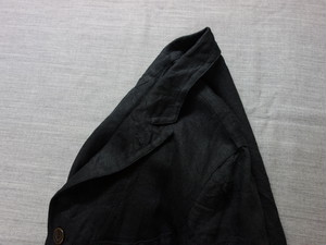 anotherlinen heavylinen coat / black
