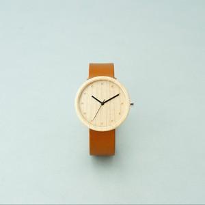 Maple wood - Organic leather Honey - L