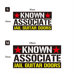 STICKER「KNOWN ASSOCIATE」S+M set
