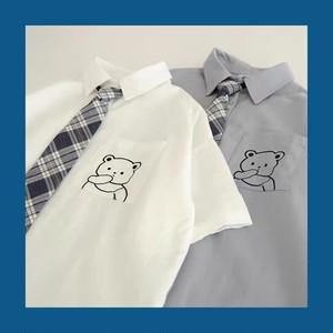 くまちゃん ネクタイ付き ブラウス 4種
