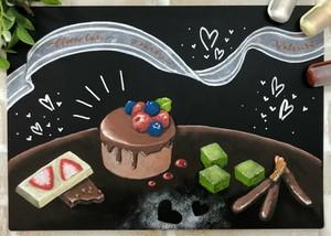 【ビーラボ黒板アート塾】マーカーで描くチョコレートパーティー