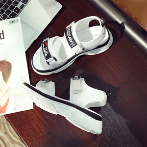 【シューズ】新作ファッション韓国風厚底マジックテープサンダル