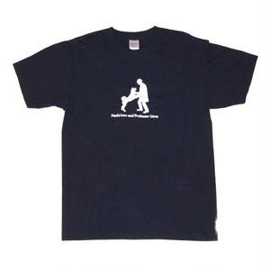 ハチ公デザインTシャツ ネイビー(濃紺)