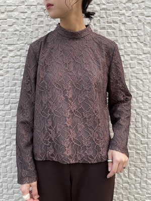 (TOYO) embroidery high neck tops