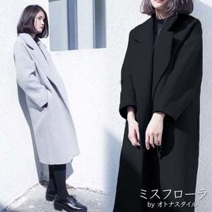 【予約】オトナ女子 チェスターコート レディース 大きいサイズ アウター シンプル 大人っぽい  2017 秋冬