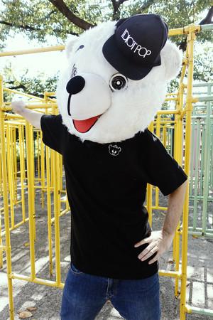 シロクマワンポイントTシャツ (BK)