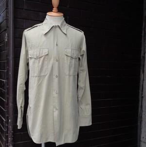 60's French Military Long Sleeve Shirt 60年代 フランス軍 長袖 シャツ