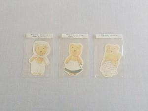 su-su ぐりくまちゃんカード ボンネット / 白エプロン / 黄マフラー