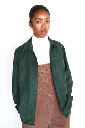 Vintage fake suede zip up jacket