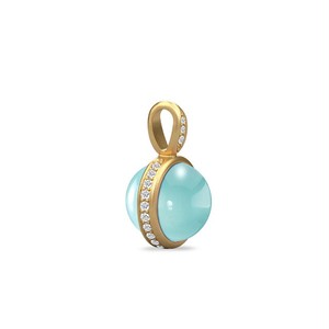 JULIE SANDLAU MERMAID PENDANT  SEA BLUE CRYSTAL
