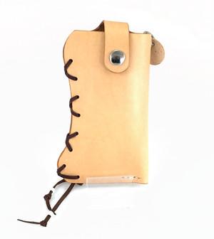 特価 携帯電話ケース 革:ナチュラル